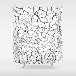 Cracks white Shower Curtain
