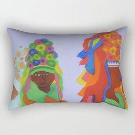 Festa do Rosario, Colorful Art, Brazil, Parade, Headdress and Drums Rectangular Pillow