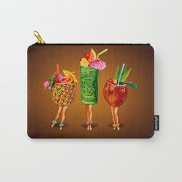 Tiki Cocktail Pin-Ups - Black Carry-All Pouch