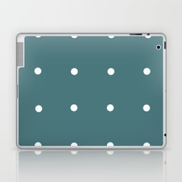 Retro Matted Green with White Dots Laptop & iPad Skin