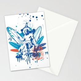 Poseidon surfer  Stationery Cards