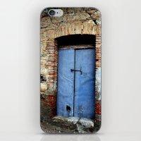 door iPhone & iPod Skins featuring door by  Agostino Lo Coco