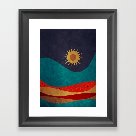 color under the sun Framed Art Print