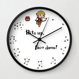Bits up, face down! Sera Wall Clock