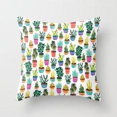 Cacti by Veronique de Jong Throw Pillow
