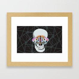 Butterfl(eyes) Framed Art Print
