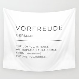 Vorfreude Definition Wall Tapestry