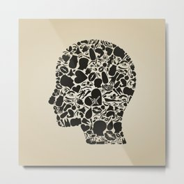Head of a part of a body Metal Print