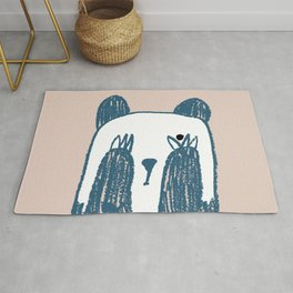 No peeking panda Rug