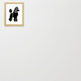 Black Standard Poodle Framed Art Print