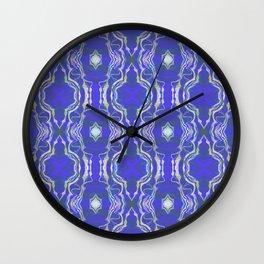 Star Peace Glow Lace Sacred Geometric Print Wall Clock