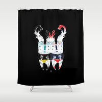 twins Shower Curtains featuring  Twins by ELKEFOLTZ