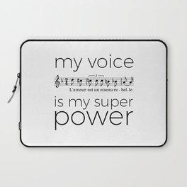 My voice is my super power (mezzo soprano, white version) Laptop Sleeve