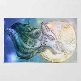 Lunar Wolf Rug