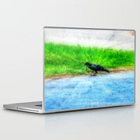 crow Laptop & iPad Skins featuring Crow by Geni