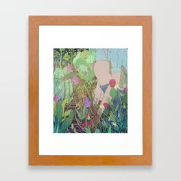 Commuter Garden Framed Art Print