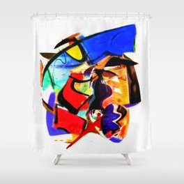 Abstract Series IV Shower Curtain