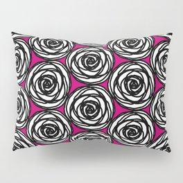 Black and White Rose Pillow Sham