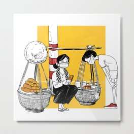 daily vietnamese street life Metal Print