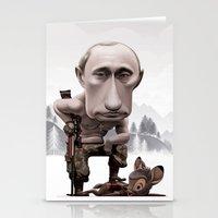 putin Stationery Cards featuring Putin by cristosalgado