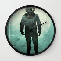 under the sea Wall Clocks featuring Under The Sea by Chase Kunz