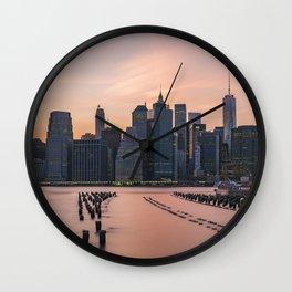 Sunset New York City Wall Clock