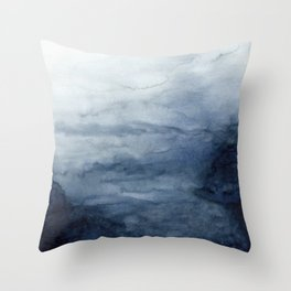 Indigo Abstract Painting | No.2 Throw Pillow