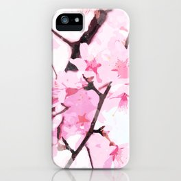 Cherry Blossoms dancing in the Wind watercolor, In Memory of Mackenzie ♥ iPhone Case