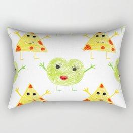 Cheese Jeese Geometric Crayon Drawing Rectangular Pillow