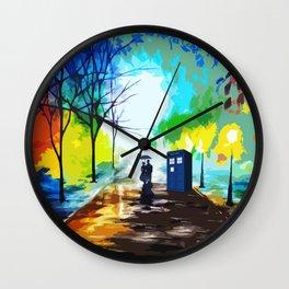 Tardis Love Art Story Wall Clock