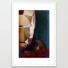 Iron Man Profile Framed Art Print
