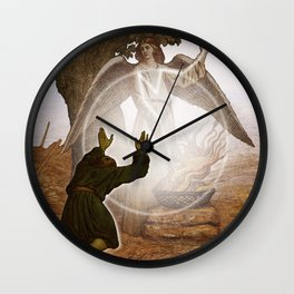 Angel of the Lord comes to Gideon. Wall Clock