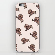 Dog Pattern 2 on Girly Pink iPhone & iPod Skin