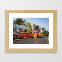 South Beach, Miami, Florida 2 Framed Art Print