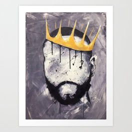 Naturally King Art Print