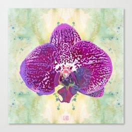 Watercolor Orchid Portrait #1 | Floral Art Print | Pink Canvas Print