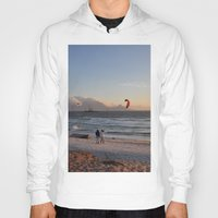 south africa Hoodies featuring Sunset Beach - South Africa by The 3rd Eye