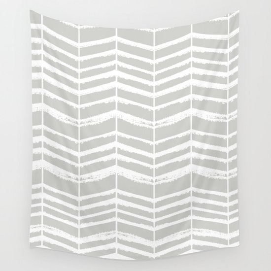 Herringbone (Light Grey & White) by vivogrande