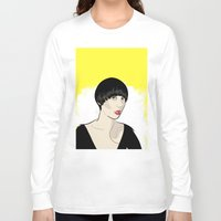 karen hallion Long Sleeve T-shirts featuring Karen Ooo by Nicky Phillips