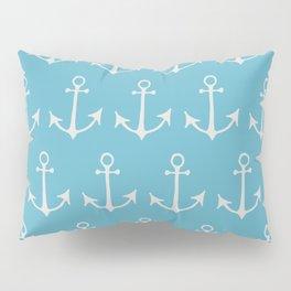 Nautical Anchors (Boat Anchors) - Blue Gray Pillow Sham