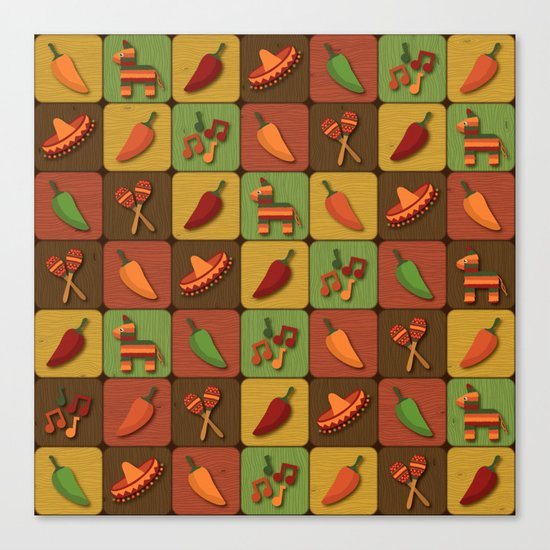 Mexican Squares Canvas Print