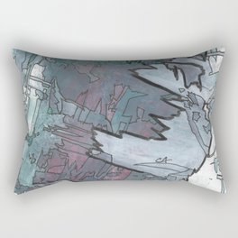 Dusky Dimensions Abstract Fine Art Painting Rectangular Pillow