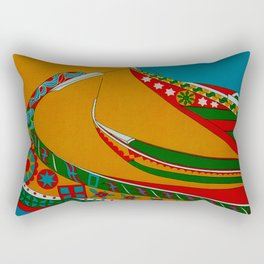Portuguese Fishing Boats - Vintage Travel Rectangular Pillow