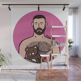 Beard Boy: Dani Bear Wall Mural