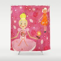 princess Shower Curtains featuring Princess by Jonny Bateau