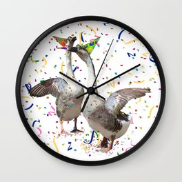 Partying Geese Wall Clock