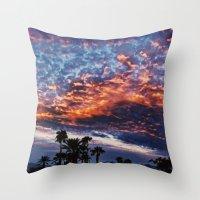 coachella Throw Pillows featuring Coachella Sky by Jay Hooker Designs