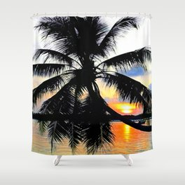 Magical Maldives Shower Curtain