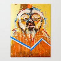the dude Canvas Prints featuring DUDE.... by Peterson J Guerrier