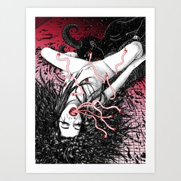 Wine At Pigalle Art Print